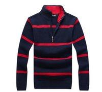 Wholesale Red Cashmere Sweaters - 2017 Sweater Popular Golf Pony men sweater US Embroidery Horse Casual zipper Sweater Custom made Winter Male Jumpers M~2XL