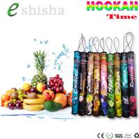 Wholesale Hookah Pen Packaging - Hookah time shisha pen E Hookah pipe portable disposable vaporizer pen E cigarette 500 Puffs 30 Fruit Flavors retail package vape pen