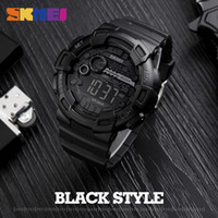Wholesale Analog Alarm Clocks - SKMEI 1243 Men Digital Wristwatches LED Display Multiple Time Zone Wholesale Clock Relogio Masculino Outdoor Sports Watches