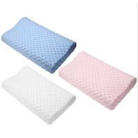 Wholesale Latex Cervical Pillow - Wholesale- 2017 Orthopedic Neck Pillow Fiber Slow Rebound Memory Foam Pillow Cervical Health Care Orthopedic Latex Neck Foam Pillow