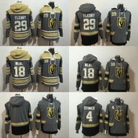 Wholesale Men S Winter Jacket Blue - Vegas Golden Knights Marc-Andre Fleury Jersey Hoodie Pullover James Neal Clayton Stoner Sweatshirts Winter Jacket 100% Stitched