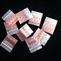 sacos ziplock frete grátis venda por atacado-Herb 100 Pçs / lote 2.5 * 3 CM 1010 Modelado Sacos De Plástico Pequeno Zip Lock Ziplock Saco de Plástico Zíper PE Saco Poli Frete Grátis!