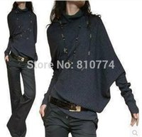 Wholesale Winter Clothes Fashion Show - Wholesale- 2017 New Spring and Autumn style Irregular batwing Women Sweaters Woman Knitwears Show Thin Plus Size XXXL Winter Girl Clothes