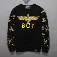 Wholesale boys hoodies - Cotton Boy London Mens Hoodies And Sweatshirts Brand Long Sleeve Sportwear Clothes Winter Autumn Thin Coat Fashion Black Sweatshirt Men