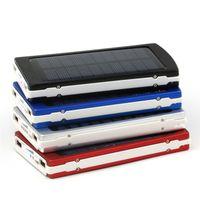 ingrosso imballaggio di carica del telefono delle cellule-Caricabatterie solare e batteria 5 colori 30000mAh pannello solare Dual USB LED di ricarica Porte banca di potere con il pacchetto connettore per il telefono cellulare