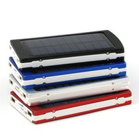Wholesale solar panel cells for sale - Solar Charger and Battery color mAh Solar Panel Dual USB LED Charging Ports power bank with Connector package for Cell Phone