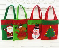 Wholesale Interior Decoration Books - 2018 Interior accessories Christmas decoration candy bag book bags children's gift bag & gift bags thick hand-stitched Christmas gift bag
