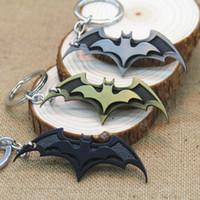 Wholesale Batman Figure Hot - Hot sales Marvel Comics Super Hero Batman Key Chain Movie Theme Zinc Alloy Keychains Batman comic figure Key Ring