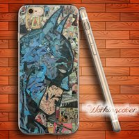 iphone 5s batman silikon kılıf toptan satış-Çapa Comic Batman Yumuşak Temizle TPU Kılıf iphone 6 6 S 7 Artı 5 S SE 5 5C 4 S 4 Durumda Silikon Kapak.