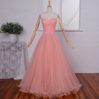 Wholesale Sexy Prom Party Grown - Elegant Plus Size Pink Formal Evening Dresses Party Gowns Strapless A-Line Prom Grown Vestido De Noiva