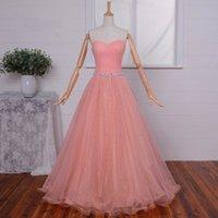 Wholesale Evening Dress Party Grown - Elegant Plus Size Pink Formal Evening Dresses Party Gowns Strapless A-Line Prom Grown Vestido De Noiva