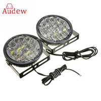 2Pcs 12V 18 LED Route ronde Conduite Daytime Running Light DRL Lampe à brouillard Bright White Car LED Offroad Work Light