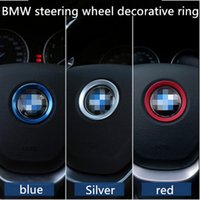 Wholesale Reflective Stickers Wheel - Selling SNBLO BMW steering wheel standard decorative ring new 3 Series 320GT5 Department x1x3x4x5x6 modified sequins