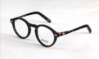 Wholesale Matches Design - High Quality AAAAA+ Brand design 46mm Moscot 1915 MILTZEN Eyeglasses johnny depp round frame Matching prescrition glasses with original case