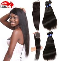 Wholesale base closure resale online - Hannah Hair Company Virgin Malaysian Straight With Closure Malaysian Virgin Hair Straight With Closure Bundles Silk Base