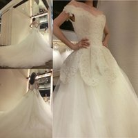Wholesale Marie Red - Luxurious V-Neck Cathedral Train Lace A-line Wedding Dresses Appliques Beaded Bridal Wedding Gowns Hochzeitskleid Robe De Marie