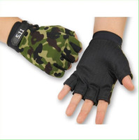 Wholesale Thin Gloves For Men - 1 Pair Summer Thin Durable Half Finger Outdoor Sports Gloves Camo Camouflage Non-slip Cycling Riding Running Gloves for Men Women