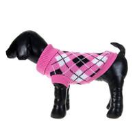 strickmuster hunde großhandel-Welpen-Haustier-Hunde strickten Oberseiten-Pullover-Strickjacke-Mantel-Kleidung kopierten Kleid