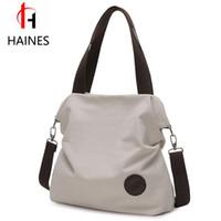 Wholesale Large Cross Body Hobo Bags - Wholesale- New 2017 Vintage Women's Canvas Handbag Tote Trendy Messenger Bags Large Capacity Cross Body Shoulder Bag Bolsas femininas