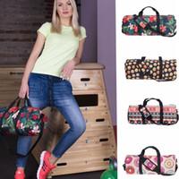 Wholesale Ladies Handbags For Travelling - Travel Bags Handbags Sport for Women Men Pink Duffel Bag Ladies Emoji leaf cat donuts watermelon Famous Brand Beach Bag 13 design KKA1455