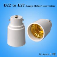 Wholesale B22 E27 Converter - DHL Fast shipping B22 to E27 lamp holder adapter B22-E27 Converter LED Bulb Base Light Socket Converters