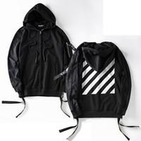 Wholesale Men Slant Hoodie - Wholesale- Cardigan Hoodie Men 2017 Winter Slant Striped Side Zipper Casual Mens Sweatshirts and Hoodies Hip Hop Hoody Men Clothes