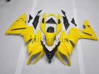 plásticos da motocicleta do mercado de acessórios venda por atacado-Carenagem de plástico ABS Aftermarket Para Kawasaki ER6 2009 ER 6 09 amarelo ER-6 motocicleta painéis Body Kit