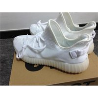 Wholesale Orange Canvas Art - [with original box] 2017 Boost Sply 350 V2 CP9366 Triple White Fluorescent cp9654 Zebra kanye west sneakers for men women running shoes