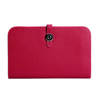 Wholesale H Genuine Leather Wallet - Wholesale fashion women clutch bags genuine leather passport bag H designer wallet 536 with dustbag