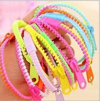 ZIP BRACELET KIDS ADULTS UNISEX FASHION ZIPPER BRACELET COUPLE BRACELET CHARM BRACELETS COULEUR MIXTE 50PCS / LOT