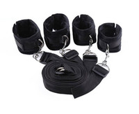 Wholesale toys femdom - New Bed Restraint System Pleasure bed Bondage Handcuffs Leg cuffs BDSM Slave Femdom Wrist Ankle Restraint Belt Adult Sex Toys