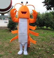 New Orange Lobster Shrimp Mascot Costume Fancy Birthday Party Dress Halloween Carnevale Costumi di alta qualità per adulti