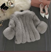 Wholesale Fake Fur Neck Warmer - Vintage fluffy faux fur coat women Short furry fake fur winter outerwear pink coat autumn casual party overcoat
