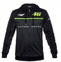 Wholesale Vr Shirt - 2017 For VR 46 M1 Valentino Moto GP Motocross Sweatshirts Outdoor sports hoodies motorcycle racing jackets Navy With zippe