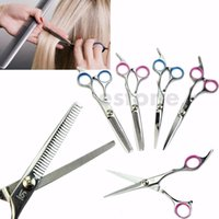 Wholesale hair cuttings resale online - Professional Barber Salon Hair Cutting Thinning Scissors Shears Hairdressing