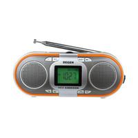 мир mp3 оптовых-Оптовая продажа-оригинальный Degen DE23 радио FM стерео MW / SW DSP World Band радио приемник MP3 мини динамик карты бесплатная доставка