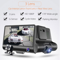 Wholesale rearview sensor camera for sale - 4 P HD Lens Car DVR Dash Cam G sensor Recorder Rearview Camera