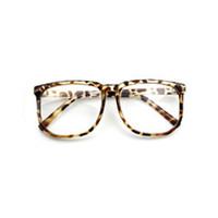 Wholesale geek glasses wholesale - Wholesale- 2016 hotHot Unisex Oversized Retro Tortoise Shell Nerd Geek Clear Lens Plain Glasses 8QHK