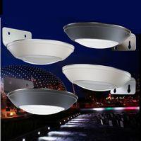 Wholesale body exterior - LED solar porch light courtyard microwave radar sensor lamp outdoor exterior body induction wall lamp path lampara lanterns
