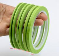 Wholesale Apparel Tape - Wholesale- 2016 Green Crepe Paper Fine Line Masking Tape Good For Finger Nail Polish Painting Decoration Apparel Design Labeled Line