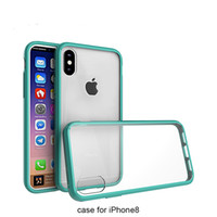 Custodia in cristallo trasparente per iPhone 8/7/7/6/6 Plus TPU + Anti UV