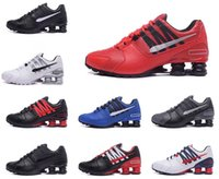 Wholesale B Lights Crystals - New men shoes shox avenue 803 crystal casual men air shox turbo designer sneakers black white running walk red bottoms trainer 7-12