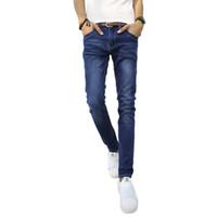 Wholesale Light Purple Leggings - Wholesale- Free shipping 2017 new fashion men's jeans men pants good quality fashionable stretch denim leggings pants trousers 45CQ
