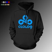 Wholesale Wholesale Men Women Jackets - Wholesale- Game Team Cloud9 Hoodies sweatshirts fleece cloud 9 gaming clothing men women coat jacket