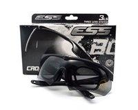 крест солнцезащитные очки оптовых-Лучшее качество TR90 Ess Cross Bow Army Открытый спортивные очки Пуленепробиваемые солнцезащитные очки UV400 3 объектива Тактические очки мужские очки для стрельбы