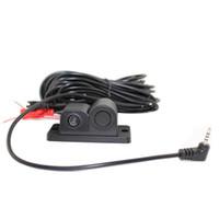 линзы изображение оптовых-Автомобильная камера для DVR Dashcam PZ452 1 / 3cmos чип изображения высокой четкости 2-в-1 Видео датчик парковки IP67 водонепроницаемый объектив HD заднего вида DC12V