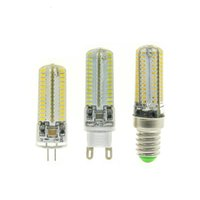 Wholesale Epistar Chip Led 3w - AC220V G4   G9   E14 LED Corn Bulb SMD3014 Chip Silicon 64   104leds Mini Lamps 10pcs lot