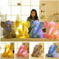 Plush Colorful Glowing Led Light Luminous Elephant Toy Poulet farci Oreiller Dormir Cadeau d'anniversaire pour enfants Enfants bébé c109