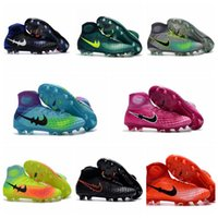 Wholesale High Tops Children - 2017 Magista Obra 2 II FG Youth Mens Soccer Cleats Kids Football Boots High Top Boys Soccer Boots New Children Women Soccer Shoes