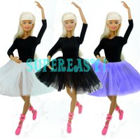 Wholesale Dance Costume Dolls - Cute Dancing Costume Ballet Dress Lace Skirt Clothes For Barbie Doll Girls Love Christmas Gift Toy